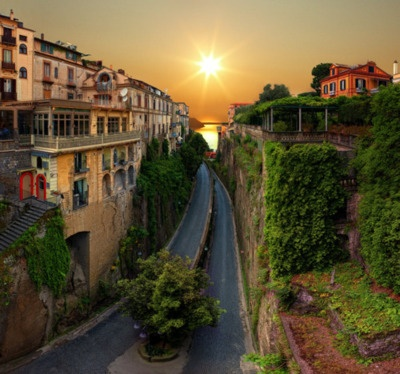 Road to the Sea, Sorrento, Italy: The Roads, Small Town, Buckets Lists, Beautifulplaces, Sunsets, Beautiful Places, Sunri, Travel, Sorrento Italy