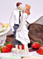 ケーキトッパー ウェディングケーキの飾りに 花嫁花婿の結婚式のケーキに 結婚祝いに