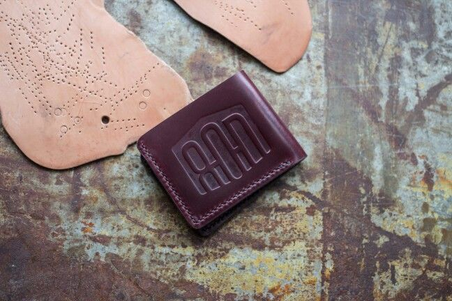 a MASSIVELY branded wallet in  Horween's Color #8