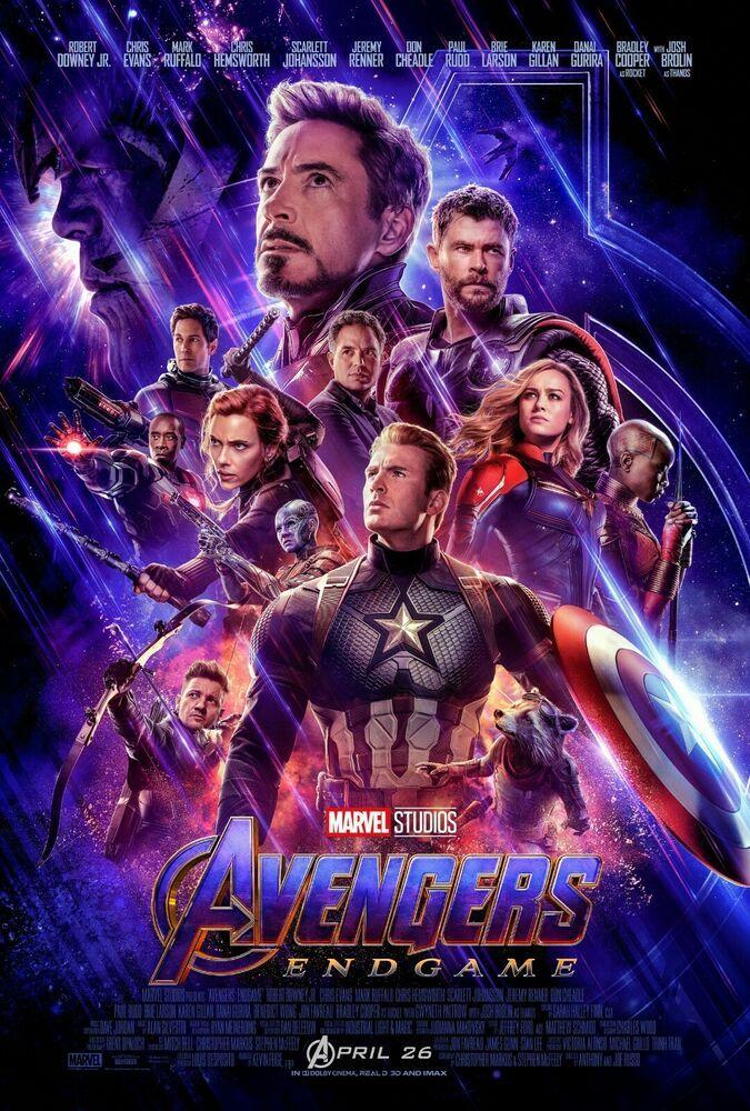 Avengers Endgame Movie Film Cinema Poster Photos  27″ x 40″ Print Service
