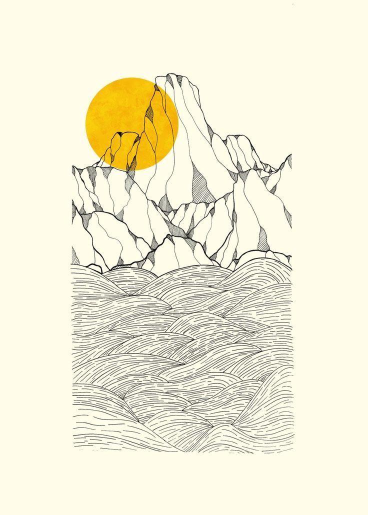 Sun and Sea Cliffs Art von Steve Wade (Swade) … …