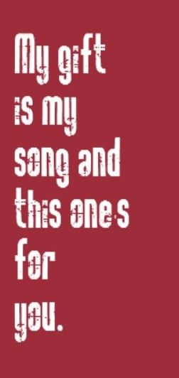 yes it is...my gift is my song... so keep it turned on Elton John - Your Song - Released 1970