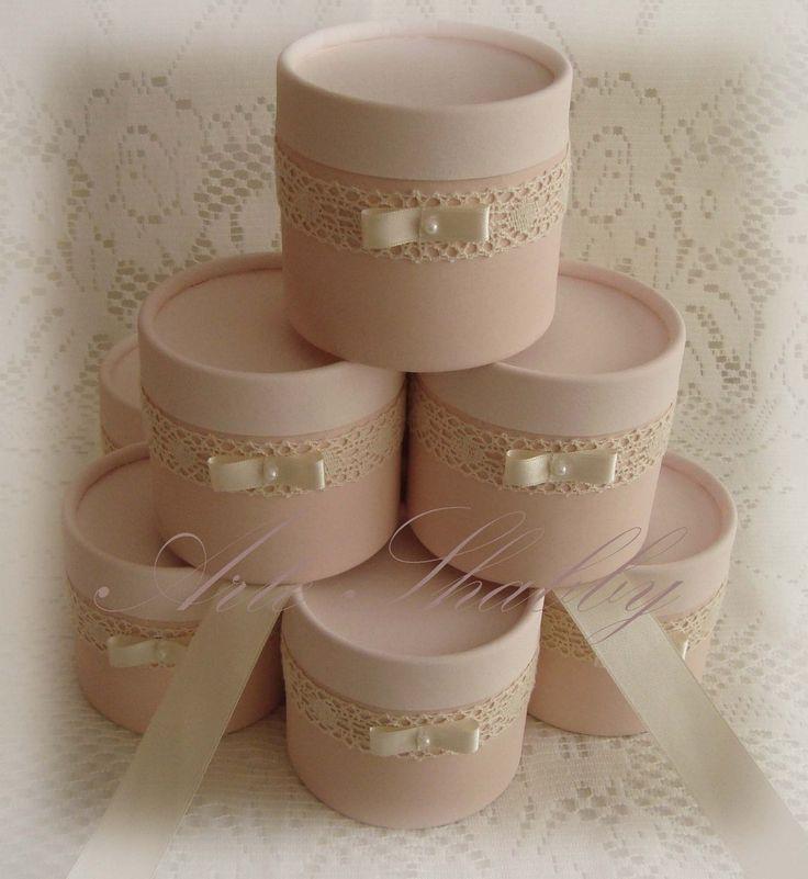 10 Souvenirs Cajitas Shabby Chic Casamiento 15 Años Eventos - $ 380,00 en MercadoLibre