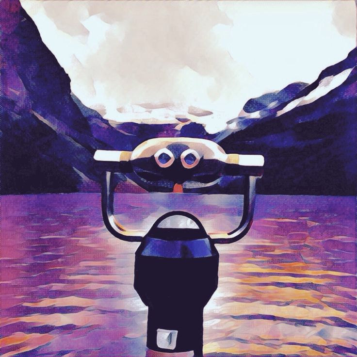 Lake Louise, Banff. This #painting was made from a simple photo with a #Prisma app. #illustration #art #lake #mountains #banff  #Drawing