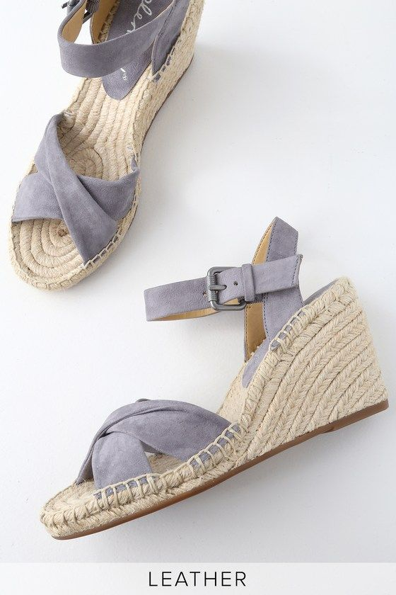 65e661a4307 The Splendid Fairfax Grey Suede Leather Espadrille Wedges and a tropical  cocktail make for the perfect