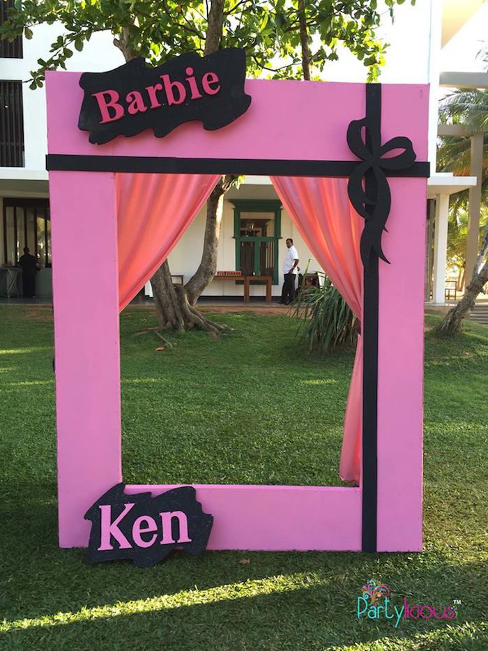 Photobooth from a Barbie Fashion Birthday Party via Kara's Party Ideas |The Place for All Things Party! KarasPartyIdeas.com (43)