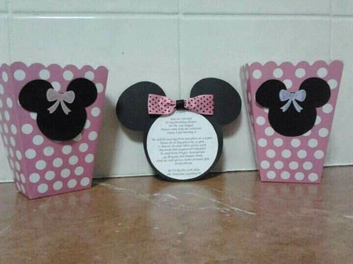 Minnie Birthday invitations - made by me