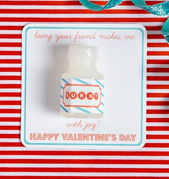 DIY Bubble Valentine's Day Card - printable