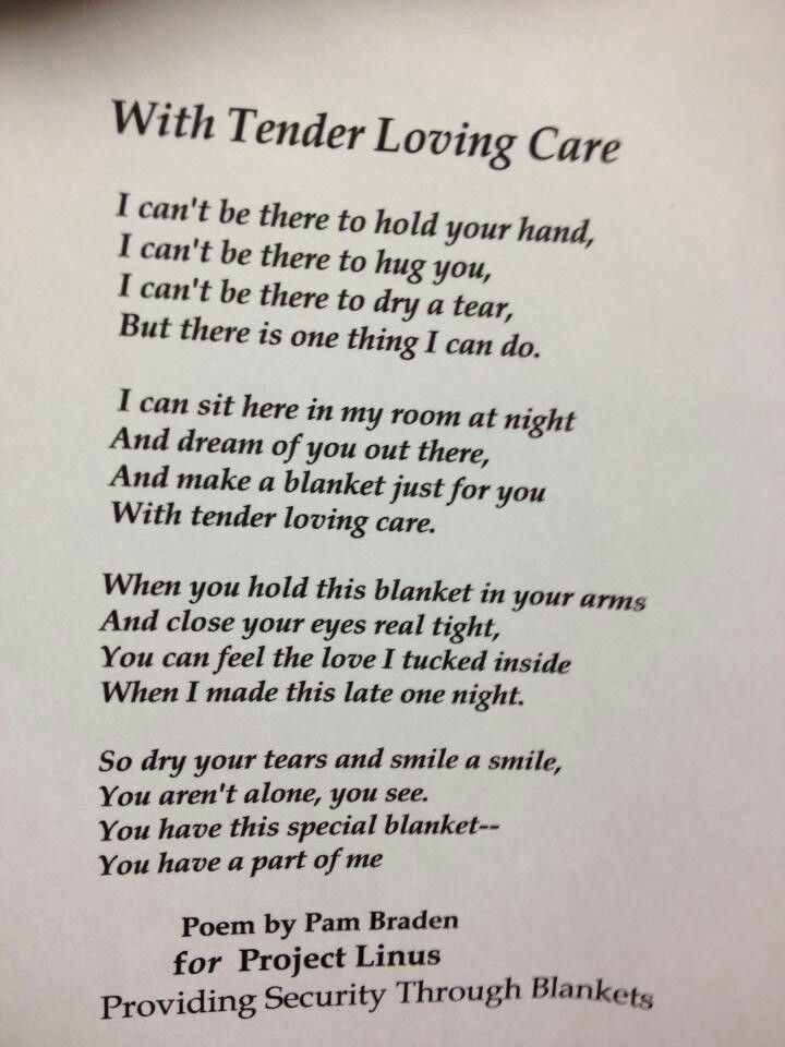 Image result for Poems About Giving a Blanket | Crochet ...