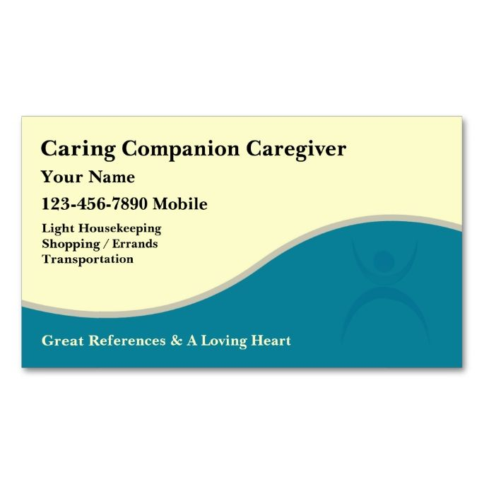 Caregiver Business Cards I Love This Design It Is Available For