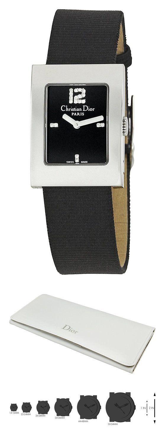 Christian Dior Women's CD108109NOD1 Malice Black Leather Strap Watch #watch #christiandior #wrist_watches #watches #women #departments #shops