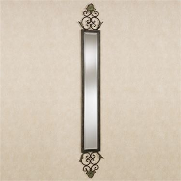 Taneisha Scroll Aged Brown Wall Mirror Panel