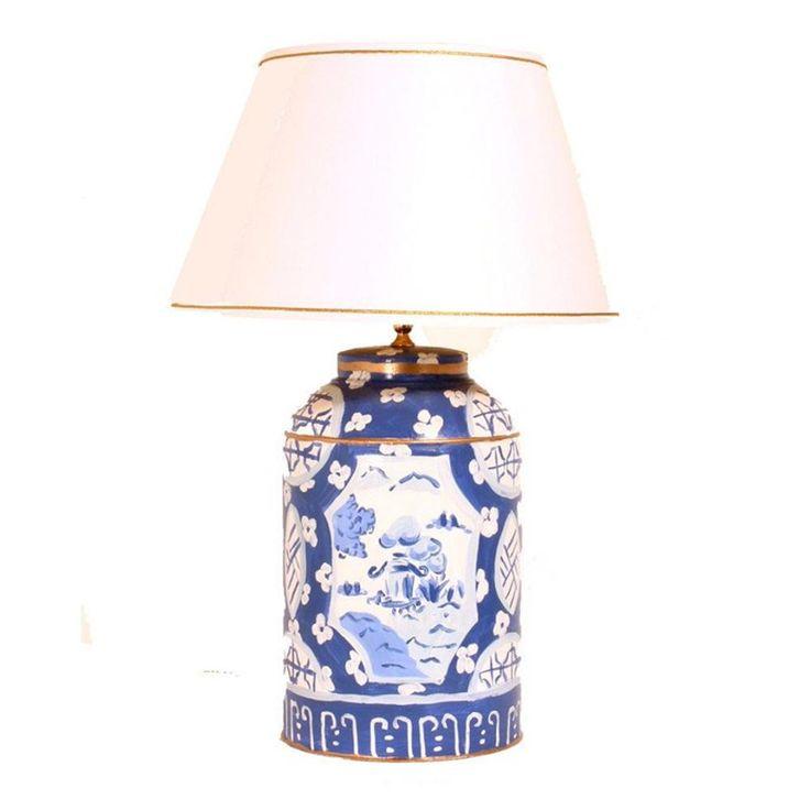 Blue Canton Tea Caddy Lamp In 2019 Blue White Lamp Tea