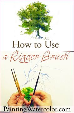 How to Use a Rigger Brush Watercolor YouTube Painting Video by Jennifer Branch