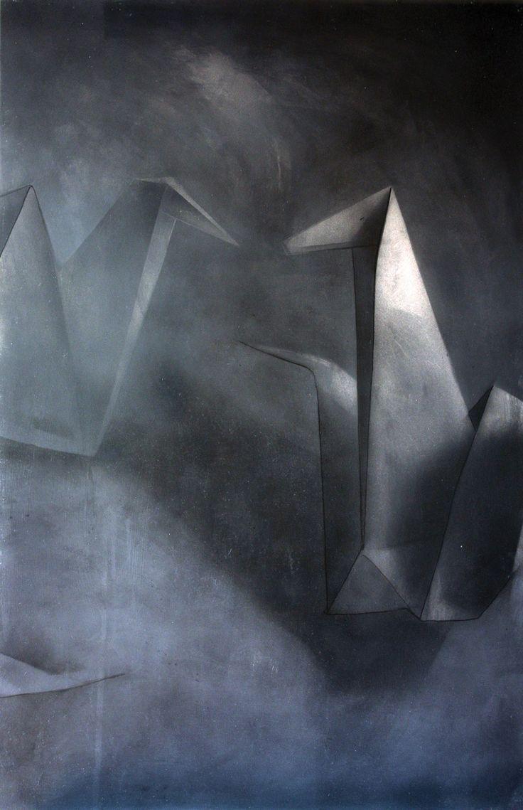 """""""Żurawie"""" cykl 5/5, technika mieszana na płycie. #art #painting #paper #crane"""