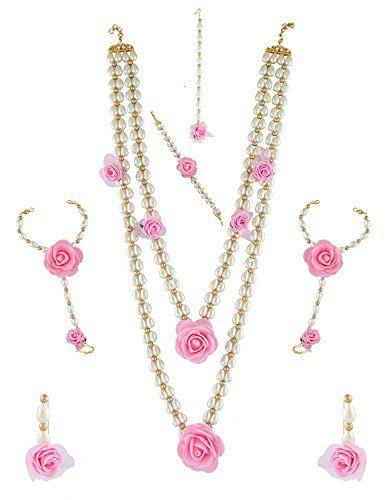 Indian Bollywood Designer Wedding White Pearls Pink Flora... https://www.amazon.com/dp/B06XPBTTTT/ref=cm_sw_r_pi_dp_x_O2PlzbJRHM4Y8
