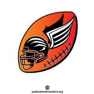 American football logotype template