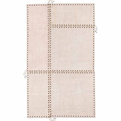 Ultramodern, contemporary, high quality 'Ivory Strings' rug