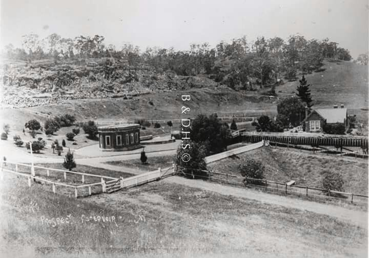 Prospect Reservoir in western Sydney in 1904.Photo from Blacktown and Districts Historical Society.A♥W