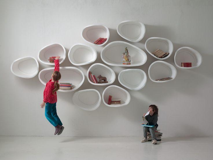 Organically-Shaped Favo Shelf System Celebrates Imperfection - http://freshome.com/organically-shaped-favo-shelf-system-celebrates-imperfection