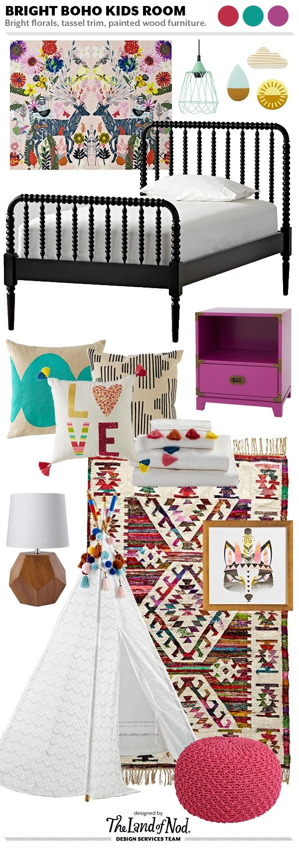 Design Spotlight: Fresh Bohemian Girls Bedroom