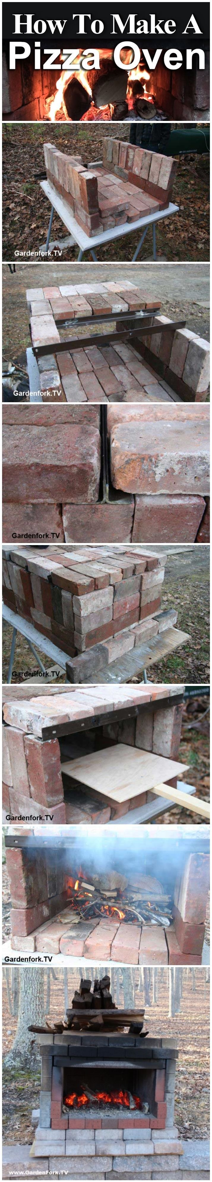 How to make your own brick pizza oven brick backyard diy for Outdoor oven diy