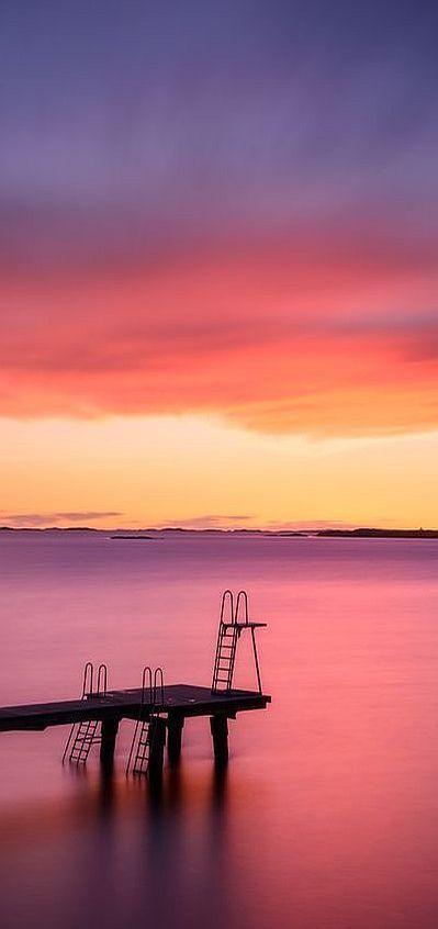 Jetty and seascape at sunset, Gothenburg, Sweden  via: www.mikaelsvensson.smugmug.com