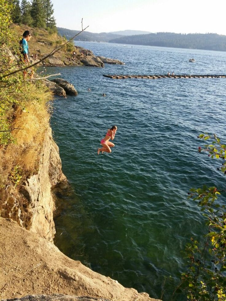 Seeing Is Not Believing >> Tubbs Hill cliff jumping in Coeur d'Alene is so fun for kids! | Idaho Family Fun in 2019 | Coeur ...