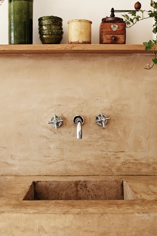 concrete sinks and counters might find a place outdoors