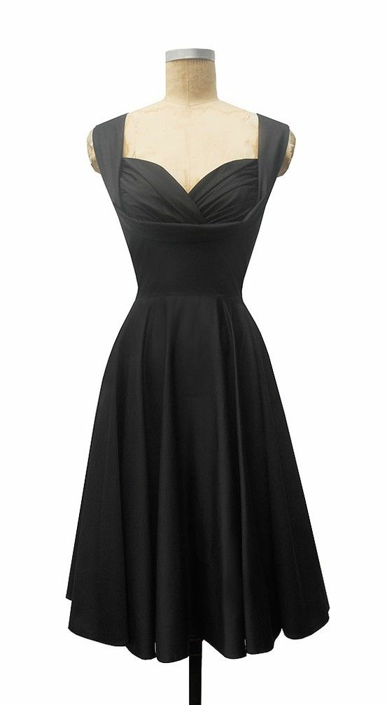 : Style, Bridesmaid Dresses, Trashy Divas, Black Honey, Little Black Dresses, Lbd, Honey Dresses, Sweetheart Neckline, 50S Dresses