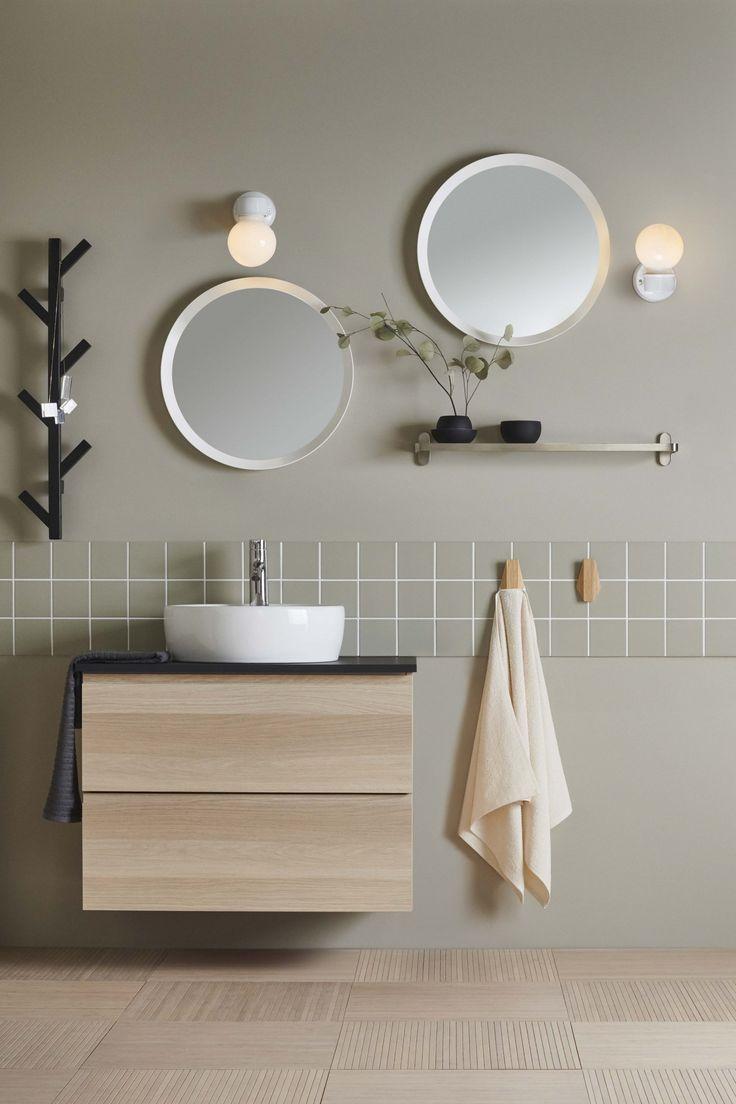 Xmas Bedroom Decor 70s Home Remodel Salle De Bains Aux Teintes In 2020 Bathroom Interior Home Decor Accessories Minimal Bathroom