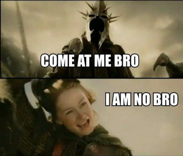 This exchange between Éowyn and the Witch-king of Angmar.