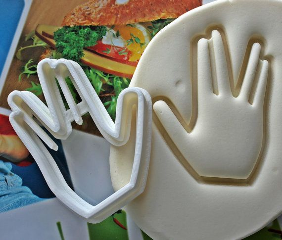 Star Trek Live Long And Prosper Cookie Cutter / Made From Biodegradable Material / Brand New
