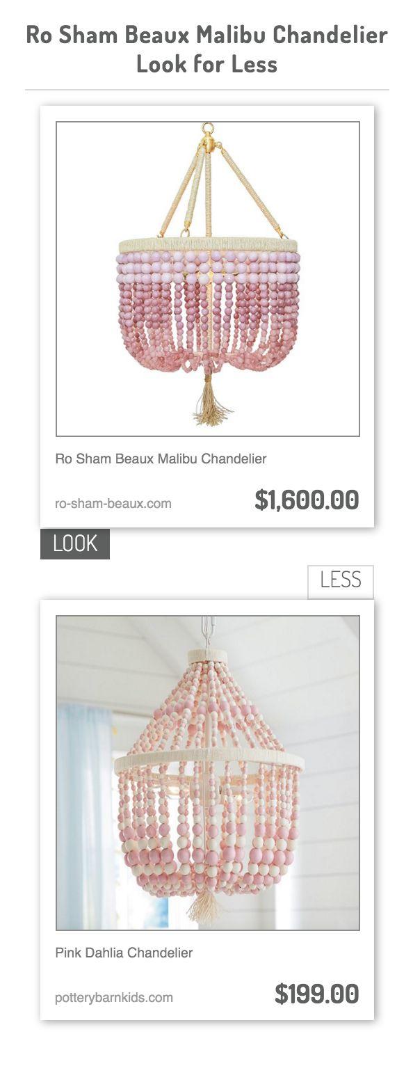 Ro Sham Beaux Malibu Chandelier Vs Pink Dahlia