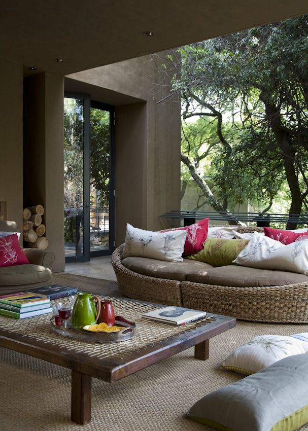 Cool patio and outdoor furniture....love it ♥