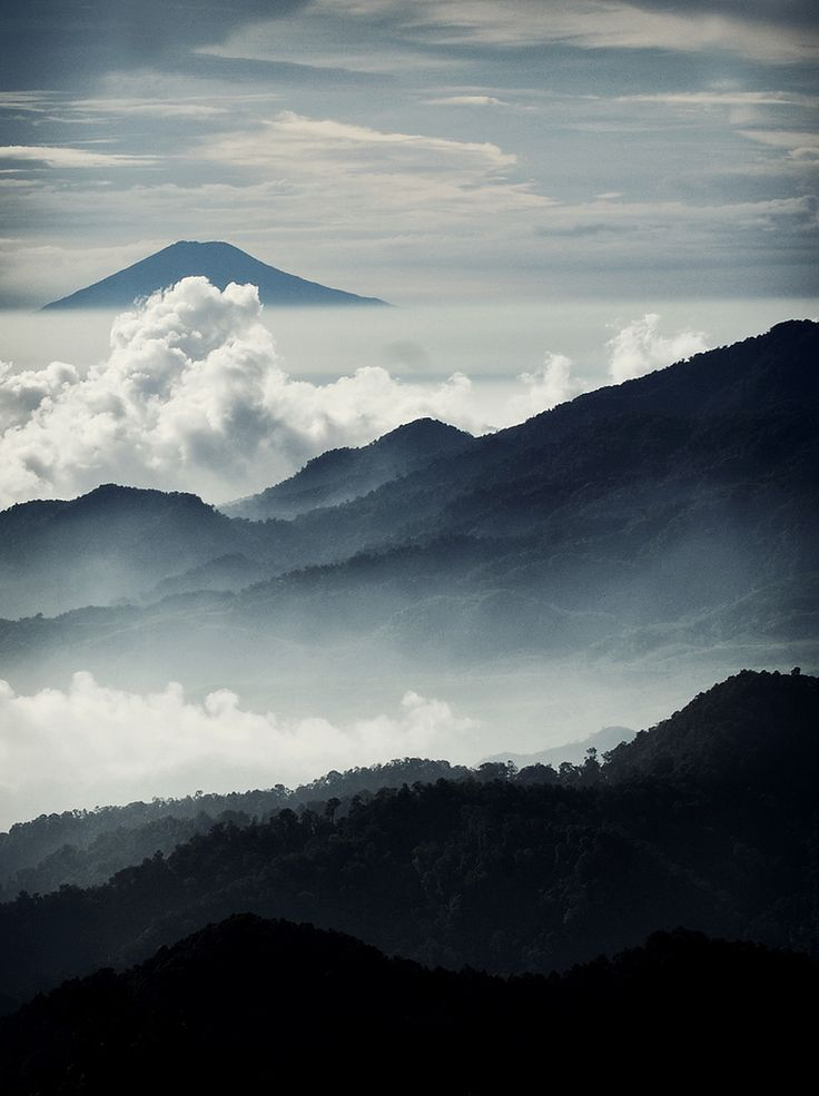 : Photos, Travel Places, Beautiful View, Go The Distance, Indonesia, Landscape Photography, Cloud, Blue Mountain, Into The Wild
