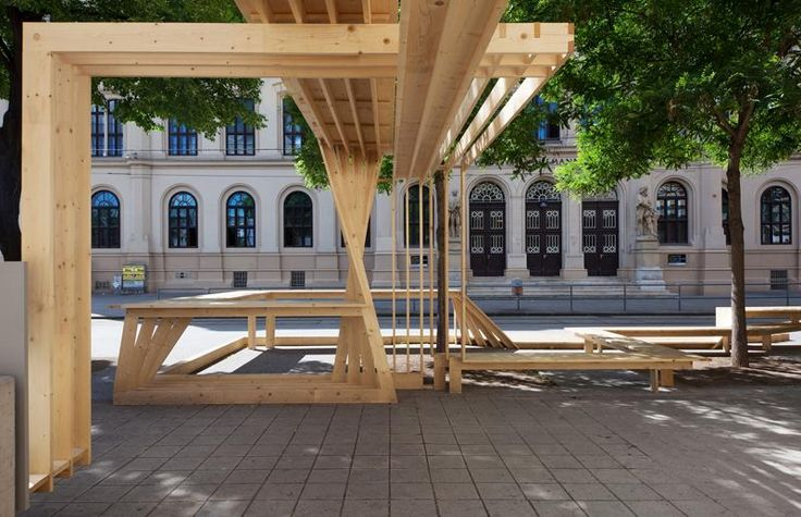 SCULPTURE / FESTIVAL CENTRE temorary installation in public space, Wiener Festwochen Vienna, 2014