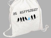 """Worek - plecak bawełniany """"Be different"""""""