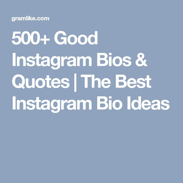 Best 25+ Good Instagram Bio Quotes Ideas On Pinterest