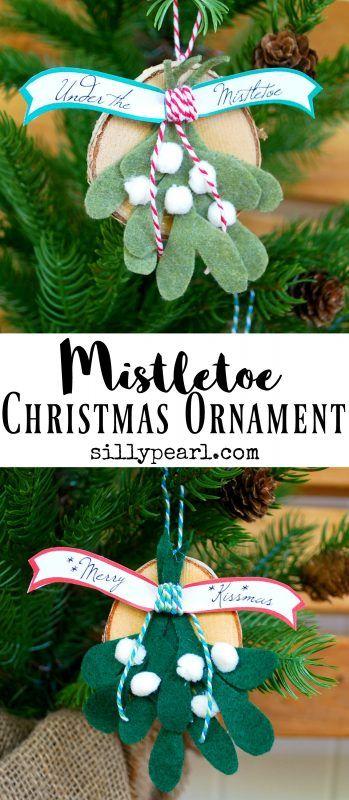 diy mistletoe christmas ornament. Black Bedroom Furniture Sets. Home Design Ideas