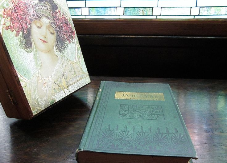 1800s Jane Eyre By Charlotte Bronte - Antique Vintage Book - Victorian Era Literature - Green Illustrated Hard Back Novel  Belford Clarke Co - pinned by pin4etsy.com