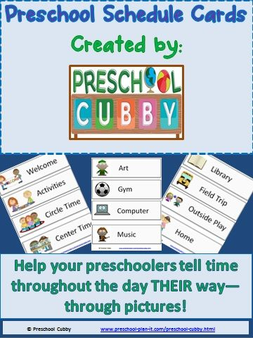 "Preschool Schedule Card Resource   21 Activities for your Preschool Classroom Schedule!  Help your preschoolers ""tell time"" on their own!"