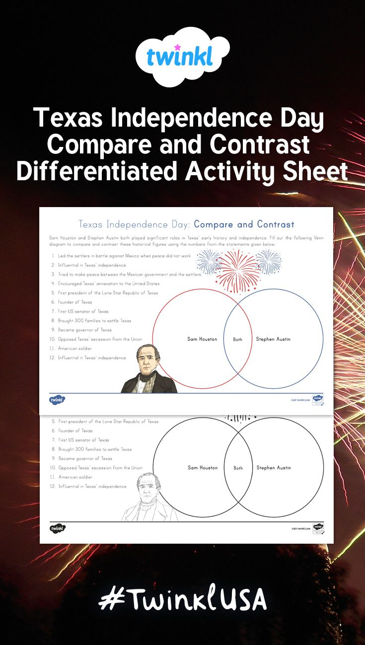 This compare and contrast worksheet allows students to use a Venn diagram  to compare and contrast Sam Hou…   Compare and contrast [ 1299 x 735 Pixel ]