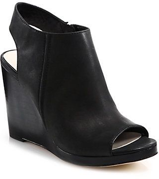 Cole Haan Ripley Leather Wedge Sandals