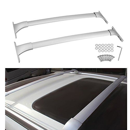 Mophorn Roof Rack Cross Bars Fit For 2014 2015 2016 2017 Nissan Rogue S SV SL Aluminum Alloy Top Roof Rail Crossbars OE Style Luggage Carrier Cargo Ladder Bike Load Roof Cross Bars (For Nissan Rogue)  FITMENT: For 2014-2017 Nissan Rogue S/SV/SL & 2014 Nissan Rogue Exclusive/Advance/Sense with factory side rails(not included); NOTE: Need Factory Side Rails To Install. Side Rails Are Not Included. Do Not Fit Rogue Select Model  Sold in pairs; Made of die-cast aluminum 6063, light weight ...