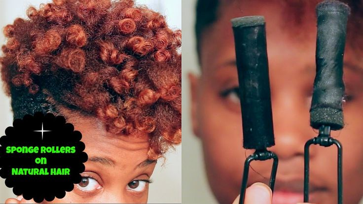 Fluffy Curls using Satin Sponge Rollers | MissKenK