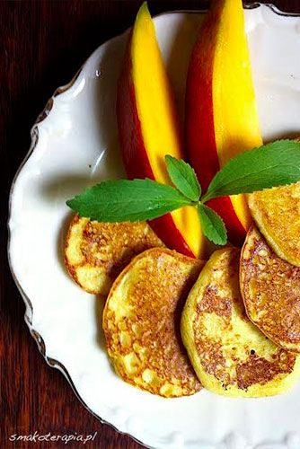 5 types of millet pancakes | Recipe in Polish. placki-z-mango