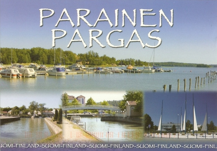 PK0393. Parainen - Pargas. Suomi. Finnland.Parainen is a part of Länsi-Turunmaa on Islands, with a sound flowing through the centrum.