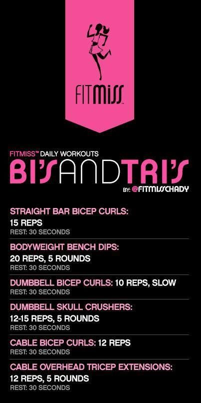 Great bicep and tricep workout...Superset first 2 exercises for 5 rounds, the second 2 for 5 rounds, etc. Tomorrow's workout @Melissa Squires Brown Thompson !!!!