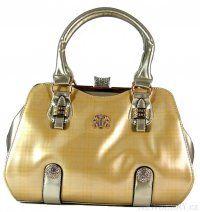 Luxusní lesklá stříbrno-zlatá kabelka do ruky fasco Berlin 89512